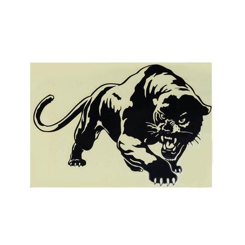 19.6X13.5 Cm Berapi-api Panther Liar Berburu Mobil Jendela Decal Bodi Stiker