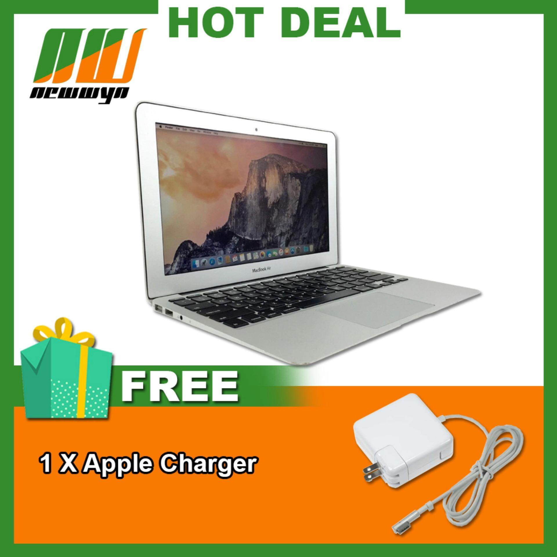 [Refurbished] Apple MacBook Air A1465 11.6 128GB, 4GB RAM Silver Laptop Malaysia