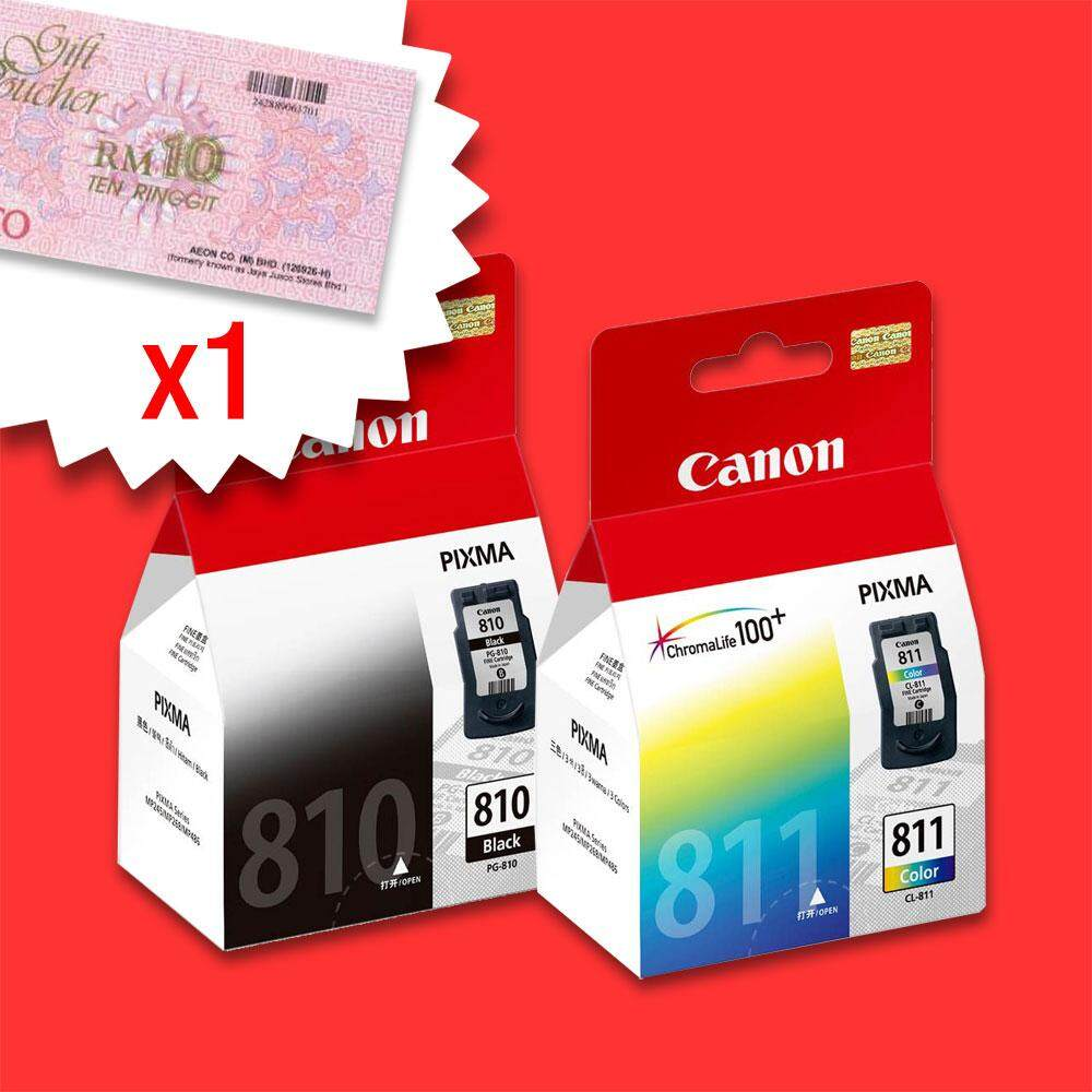 Canon Catridge Pg 47 Black Original 100 810 811 Combo Color Value Pack Set Free Rm10 Aeon Voucher