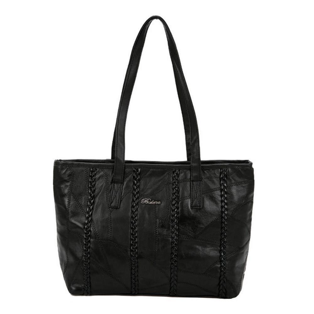 WAWNHENG Women Simple Handbag Shoulder Bag-All-match-Korean Style , Black