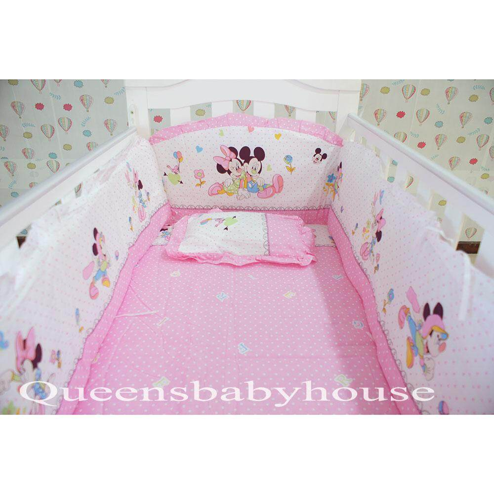 Baby Cot Pink Mickey Bedding Set (60x120cm)