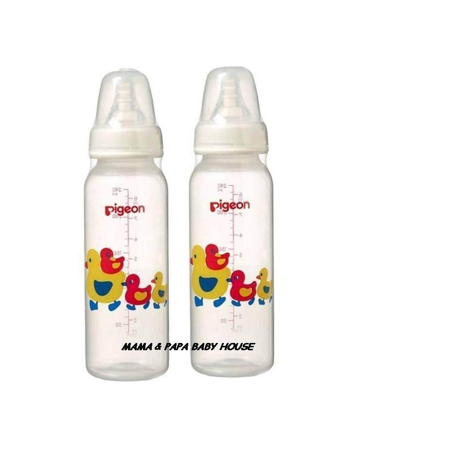 Pigeon Slim Neck Peristaltic Bottle (PP)-Duck 240mlx2PCS