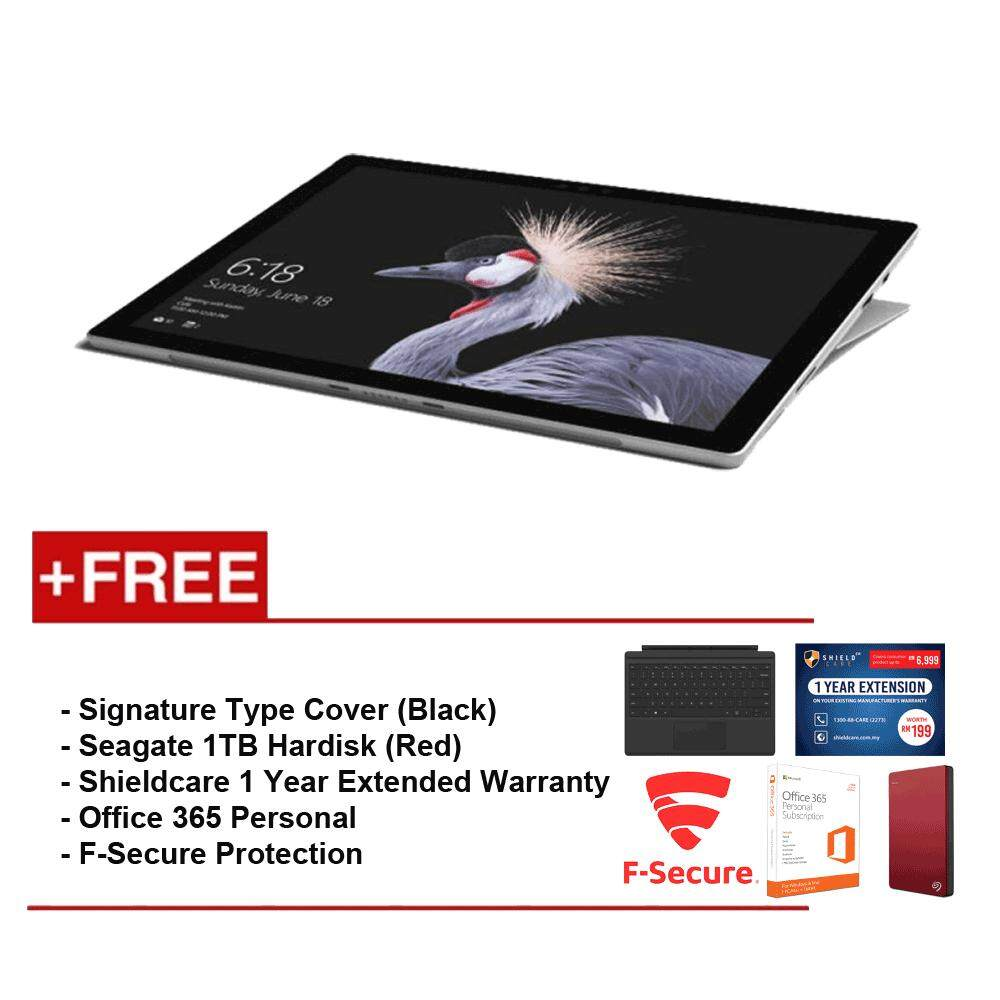 NEW Microsoft Surface Pro-Corei5 8G/256GB Free Surface Pro Type Cover(Black)+ Shieldcare 1 Year Extended Warranty+ F-Secure EndPoint Protection+ Seagate 1TB External Hard Disk(Red)+ Office 365 Personal Malaysia