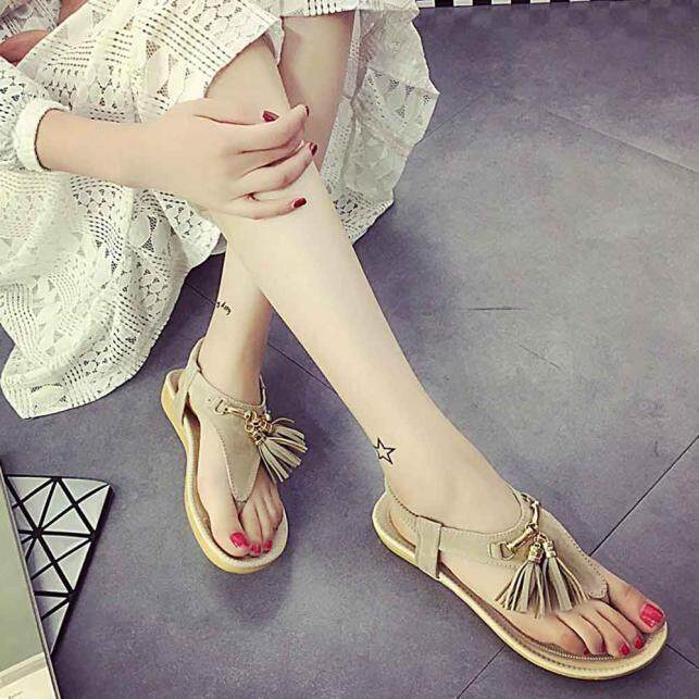 Buy Summer Women Tassels Flat Sandals For Women Fashion Casual Sandals Beach Shoes Intl On China