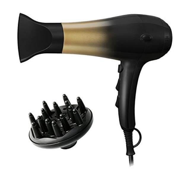Kipozi 1875 W Pengering Rambut, nano Ionic Blow Dryer Profesional Salon Rambut Blow Dryer Ringan Cepat Kering Kebisingan Rendah, dengan Concentrator & Diffuser, 2 Kecepatan & 3 Pengaturan Panas-Internasional