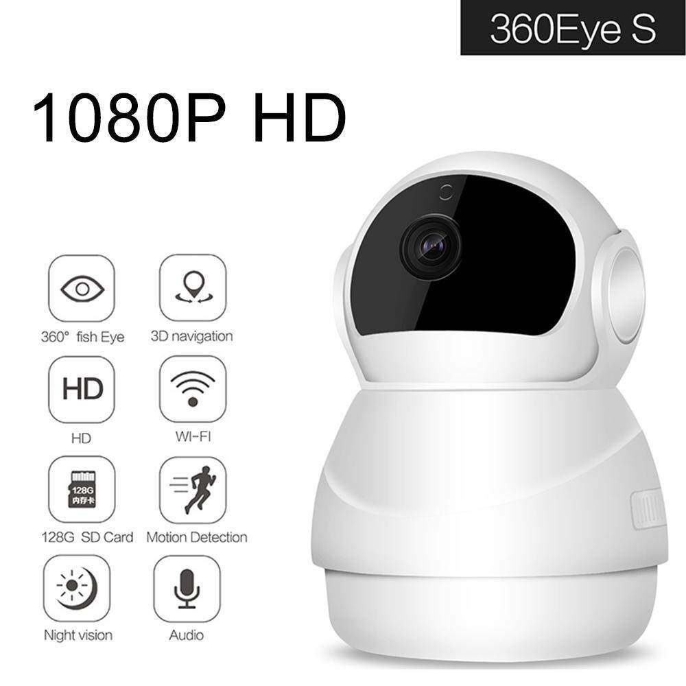 jingot 1080p HD WiFi Wireless Camera 360 Eye S Home Security Motion  Detection Camera Baby Monitor With Two Way Talk,EU Plug - intl