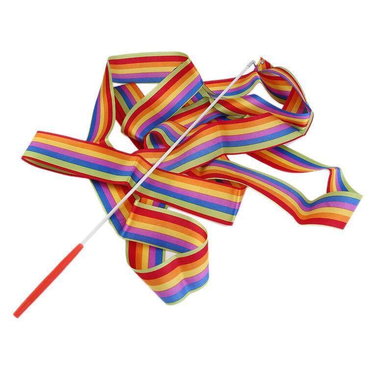 Hình ảnh OSMAN 4M Universal Gym Dance Ribbon Rhythmic Gymnastic Streamer Twirling Rod Stick