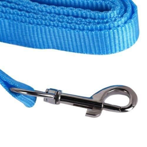 KIMPETS PET DOG ADJUSTABLE HARNESS LEASH BREATHABLE MESH (BLUE)