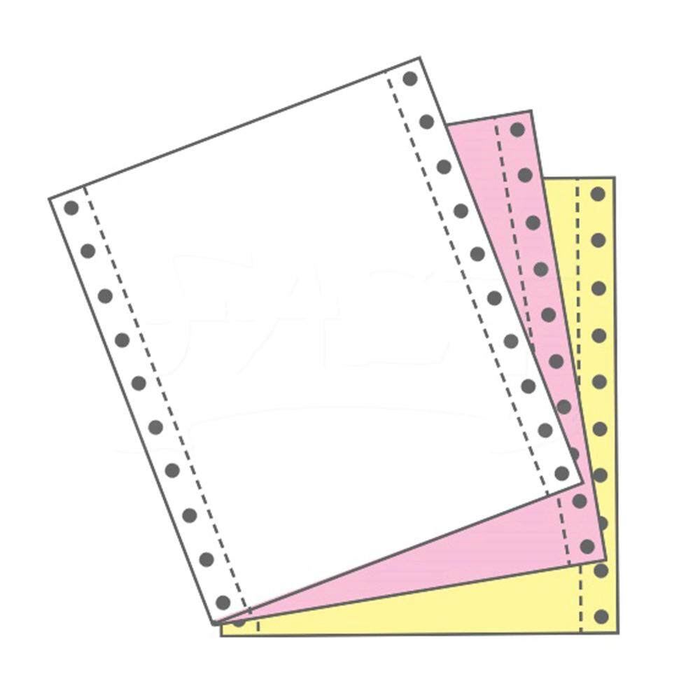 Computer Form 9.5 x 11 x 3ply NCR Colour (White/Pink/Yellow) (500Fans)
