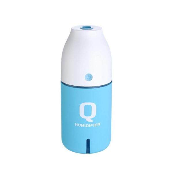 leegoal Q Bottle USB Mini Humidifier Home Gift Small Car Humidifier Creative Makaren Color Night Light Humidifier(Blue) Singapore