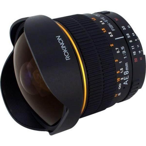 Rokinon 8 Mm Ultra Lebar F/3.5 Fisheye Lensa dengan Apertur Otomatis dan Otomatis Exposure Chip untuk Nikon AE8M-N -Internasional