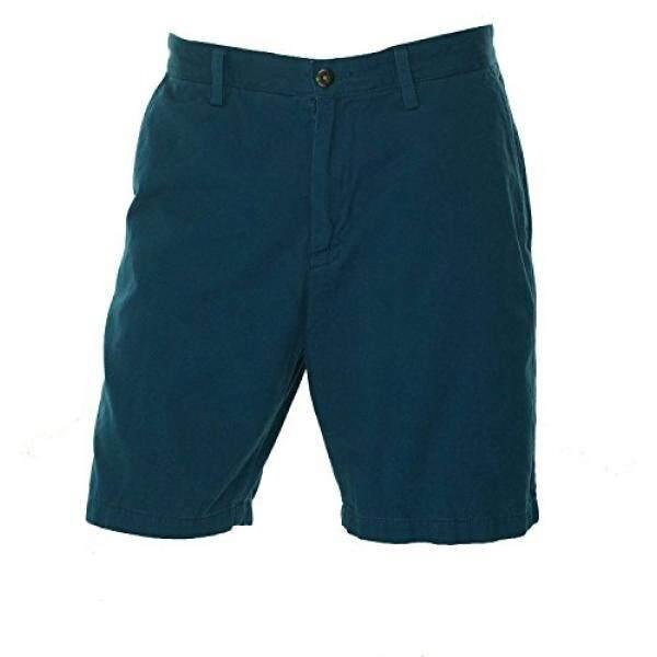 Nautica Pria Dek Pendek POTONGAN KLASIK Twill Celana Pendek Biru 32-Intl