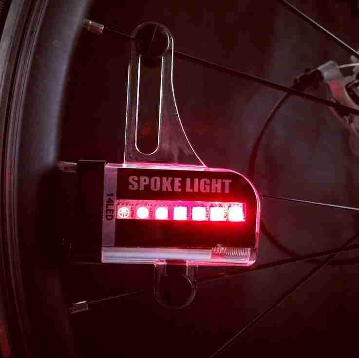 Mountain Bike Led Lamp Wheel Spoke Bicycle Light 30 Kinds Of Pattern Switching Luz Bicicleta Ciclismo Accesorios Bici - intl