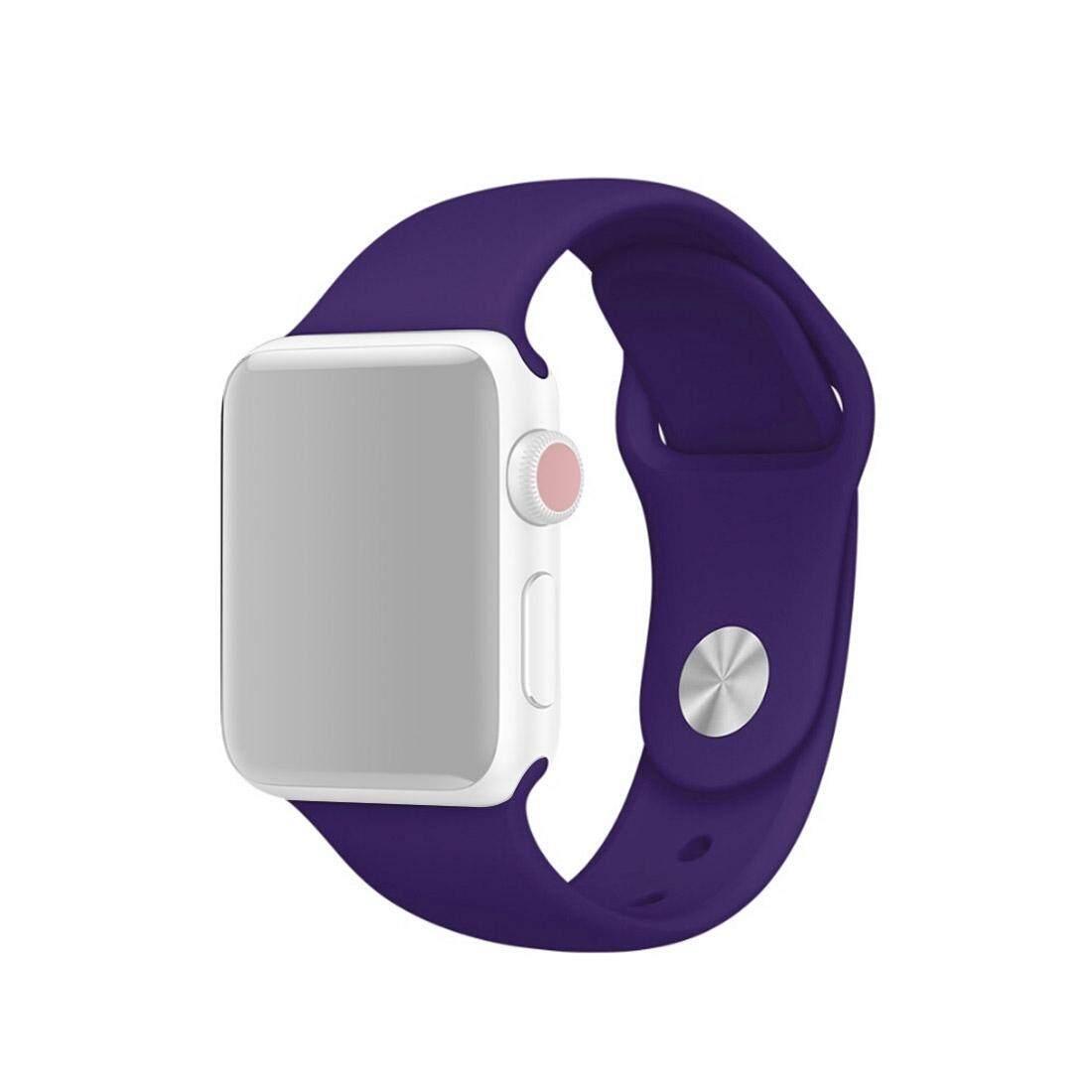 Untuk Apple Watch Series 3 & 2 & 1 42 Mm Fashion Sederhana Silikon Pergelangan Tangan