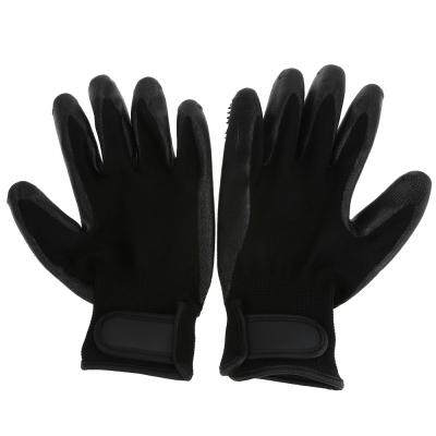 Pet Hair Remover Bathing Massage Grooming Gloves (BLACK)