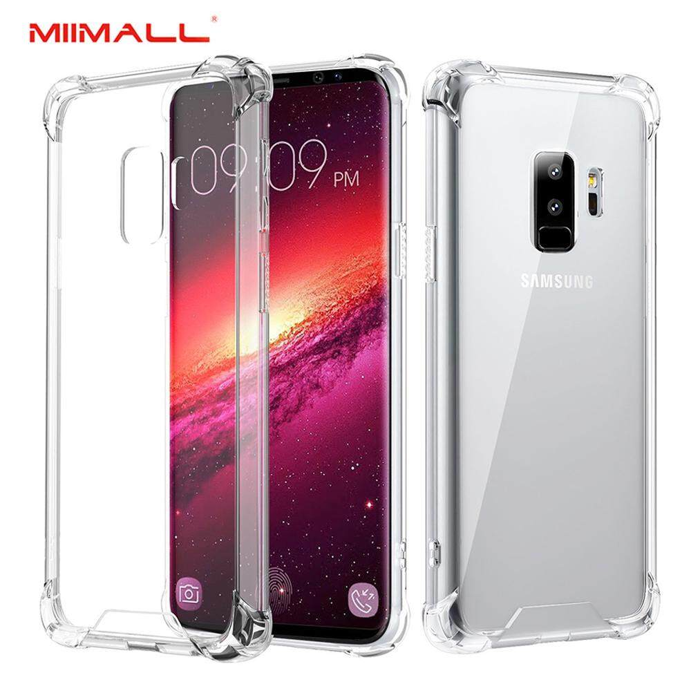 Discount Samsung Galaxy S9 Plus Case Miimall Tpu Bumper Cushion Cover With Reinforced Corners Anti Scratch Hard Pc Transparent Back Panel For Galaxy S9 Plus Crystal Clear Intl