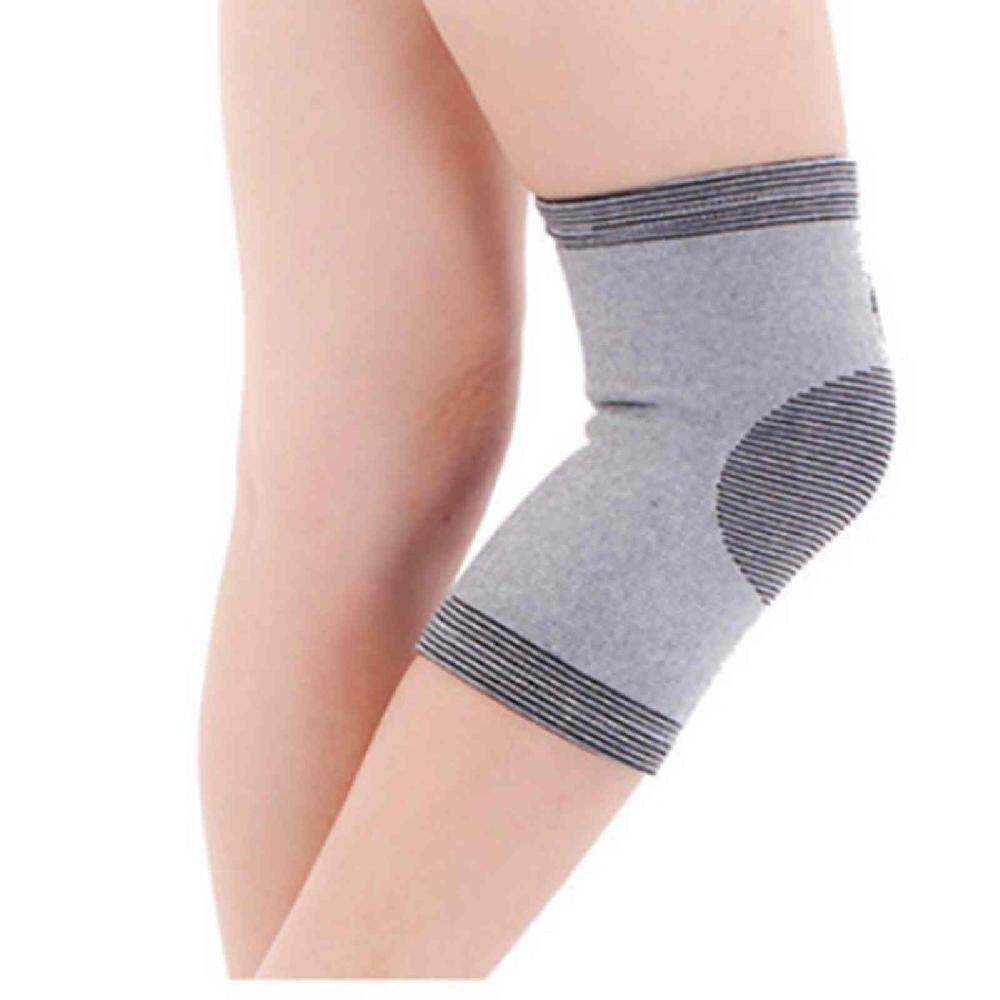 1 Pair Useful Far Infrared Bamboo Charcoal Knee Pad Support Knee Cap Protecter - Intl By Zoahu.