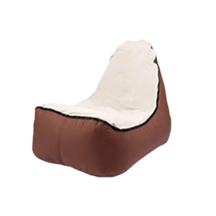 Enjoy cloud filled air sofa # Brown