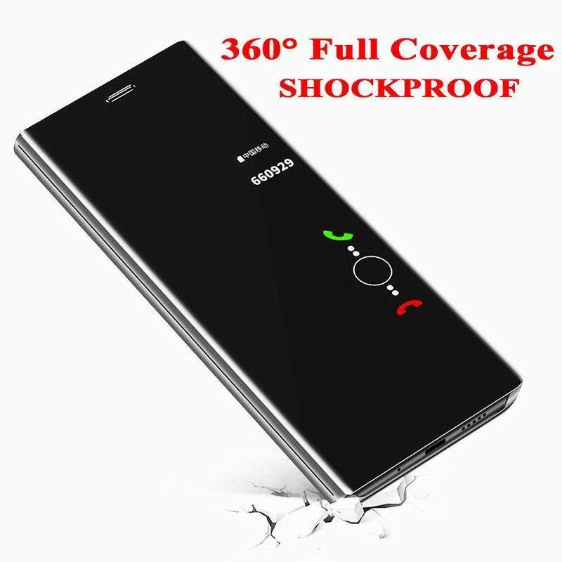 Detail Gambar Luxury Mirror Clear View Smart Flip Cover Case For OPPO F7 Terbaru