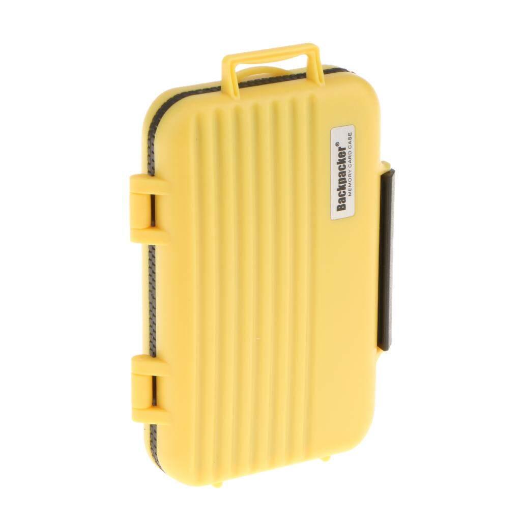 Miracle Bersinar 24 Slot Kartu Memori Kasus Penyimpanan SD CF MSD Kotak Proteksi-Kuning-Internasional