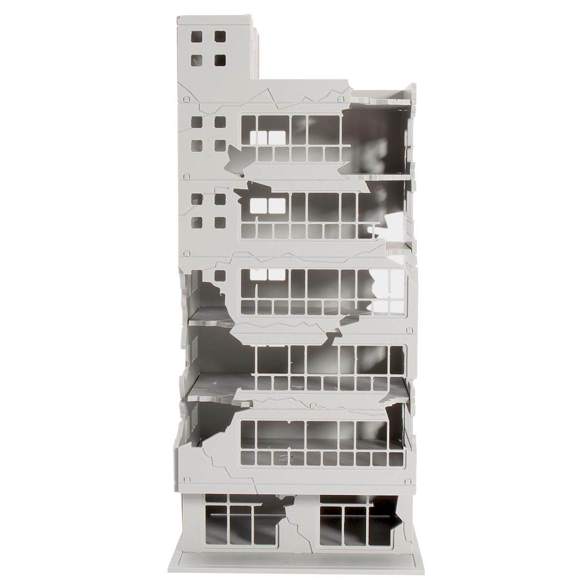 Hình ảnh N Scale 1/144 White Battle Corner Ruined Building GUNDAM 7.9*7.2*16.9cm Gifts - intl