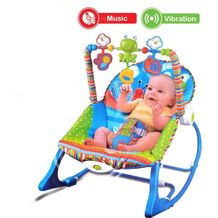 Cute Baby Rocker Rocking Chair New Born Toddler Music Chair Pacifier Children's Lounge Chairs Baby Toy Chair - intl