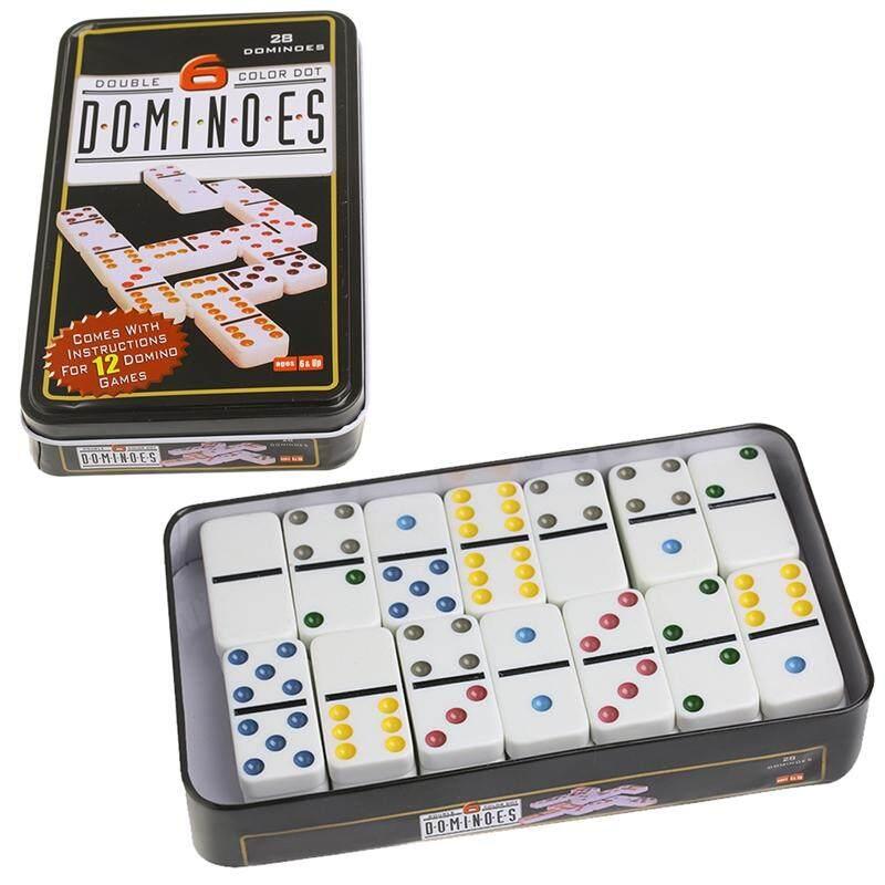 Hình ảnh Hộp đồ chơi Domino bằng gỗ Đồ Chơi Bộ Trò Chơi 28 Đôi 6 Du Lịch Domino Cho Trẻ Em Trẻ Em-intl