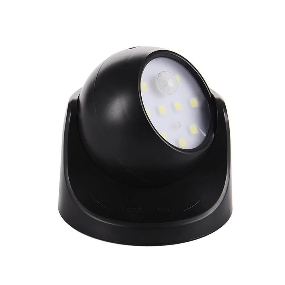 Chongqing 360° Motion Sensor Night Light, Pawaca 9 LEDs Waterproof Wireless Battery Powered Wall Light for Home Outdoor Garden Patio Pathway, Auto On/Off - intl