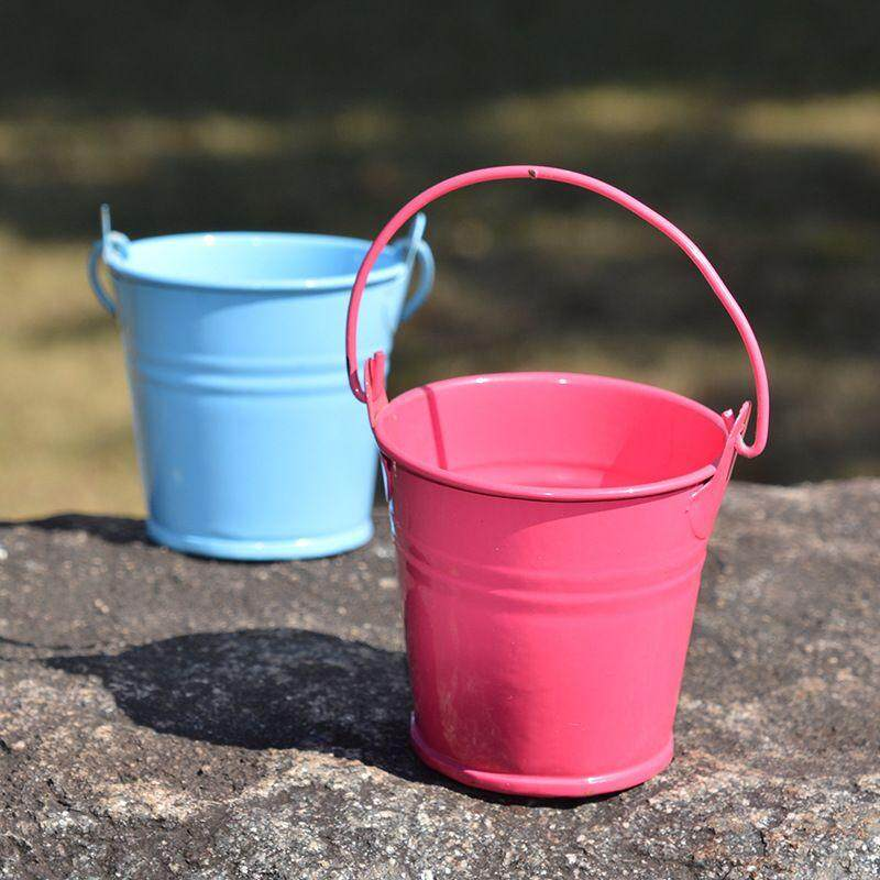 Mini Metal Bucket Wedding Party Christening Favour Gift Pails Iron Buckets Hot