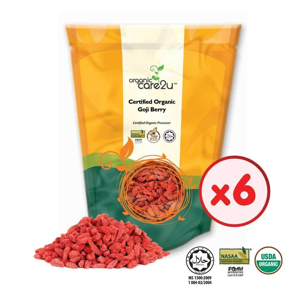 Organic Care2u Organic Goji Berry / Wolfberry (150g x 6 Packs)