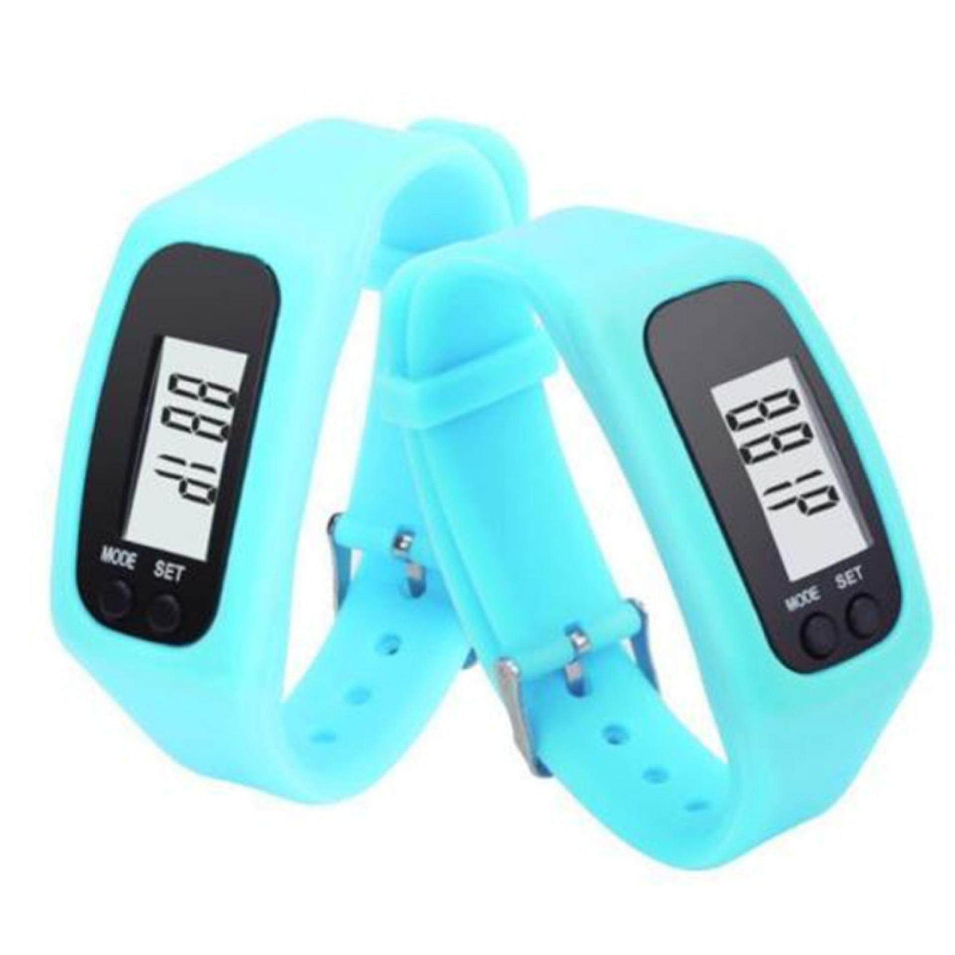 Hình ảnh Yika Sports Watch Digital Pedometer Walking Distance Calorie Counter Watch Bracelet