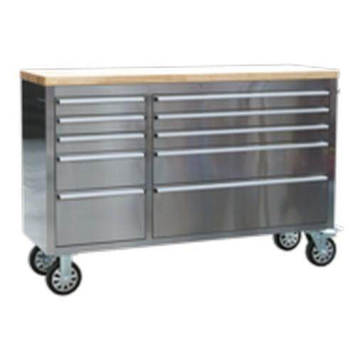 (Pre-order) Sealey Mobile Stainless Steel Tool Cabinet 10 Drawer