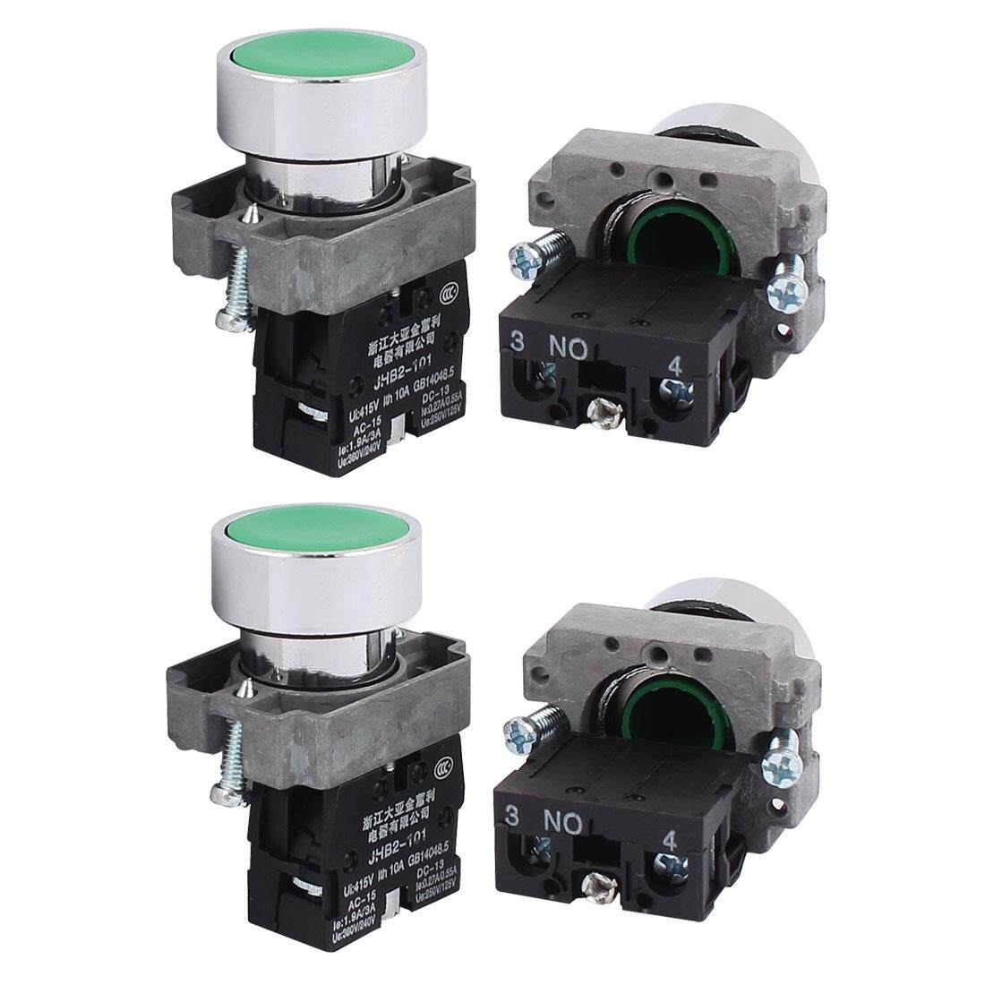 Features 12v Dc Led Light Illuminated Green Round Momentary Push Rocker Switch Spst X2 With Red Indicator Lamps Axa Ac 415v 10a No Button Contacted Block 4pcs
