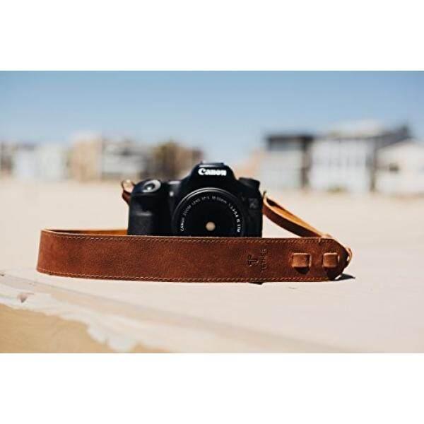 Coklat Tali Kamera Kulit untuk DSLR atau Kamera SLR, DSLR Tali Kamera. Aksesoris Kamera. Canon Tali Kamera. Nikon Tali Kamera-Intl