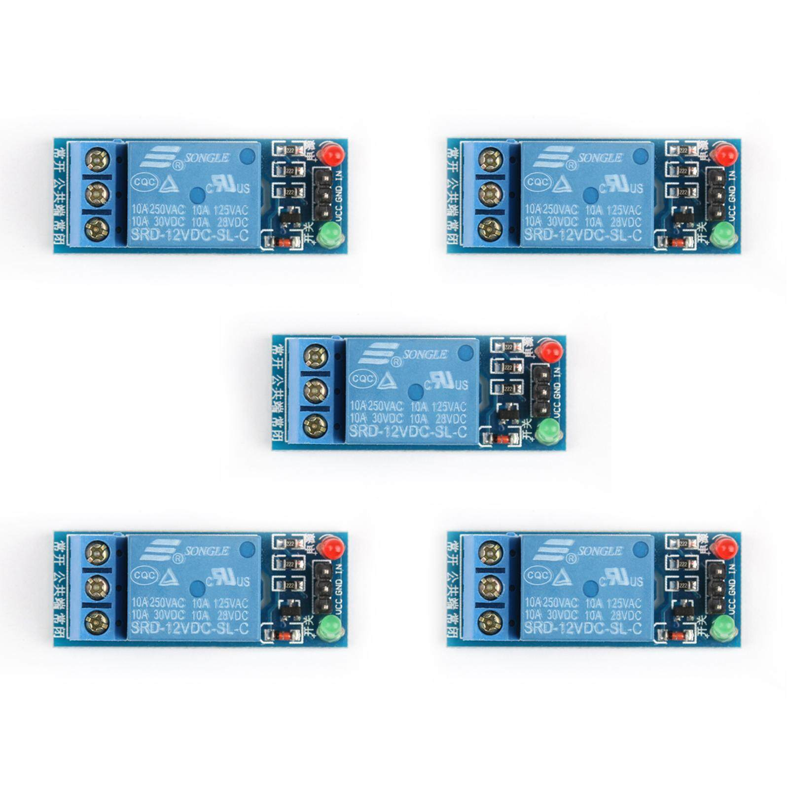 Fitur 5pcs 12v Relay Module Optocoupler Isolation High Level Trigger Switch Arduino Areyourshop 1 Channel H L Board Triger For