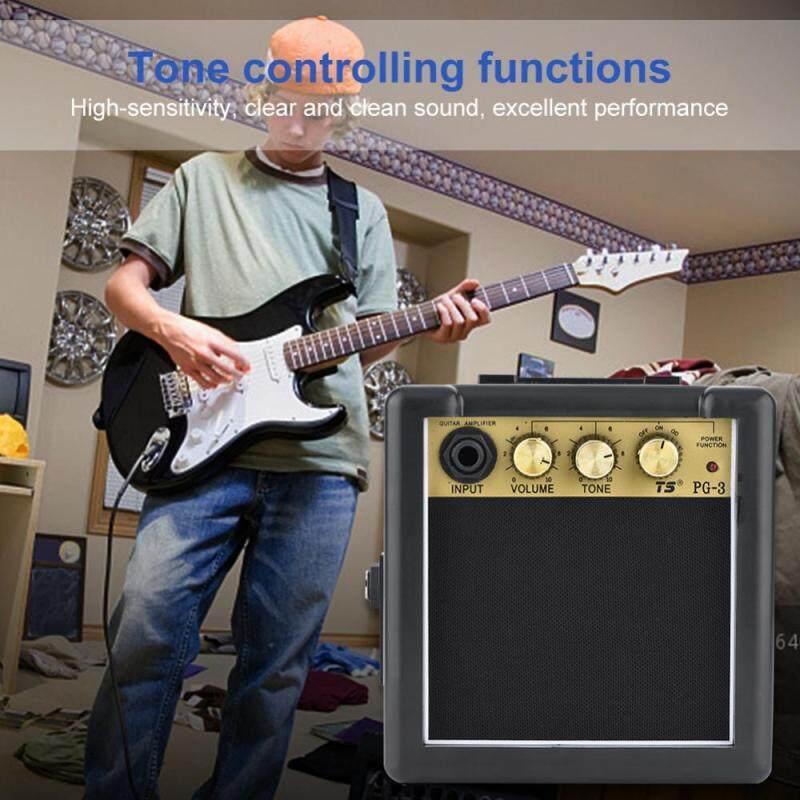High Sensitivity 3W Electric Guitar Amplifier Speaker Volume Tone Control Accessory Malaysia