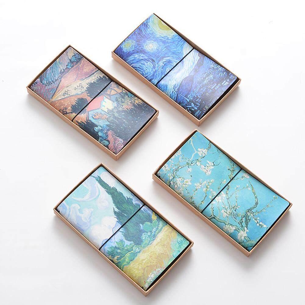 Dsstyles Creative Unik Van Gogh Lukisan Buku Catatan PU Kulit Sarung Diary Perjalanan Journal (Tipe
