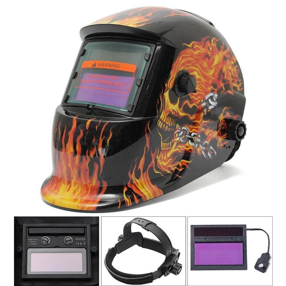 Stazub Soldering Tools Stepless Menyesuaikan Grinding Tenaga Surya Helm Las Otomatis Penggelapan TIG MIG/Masker