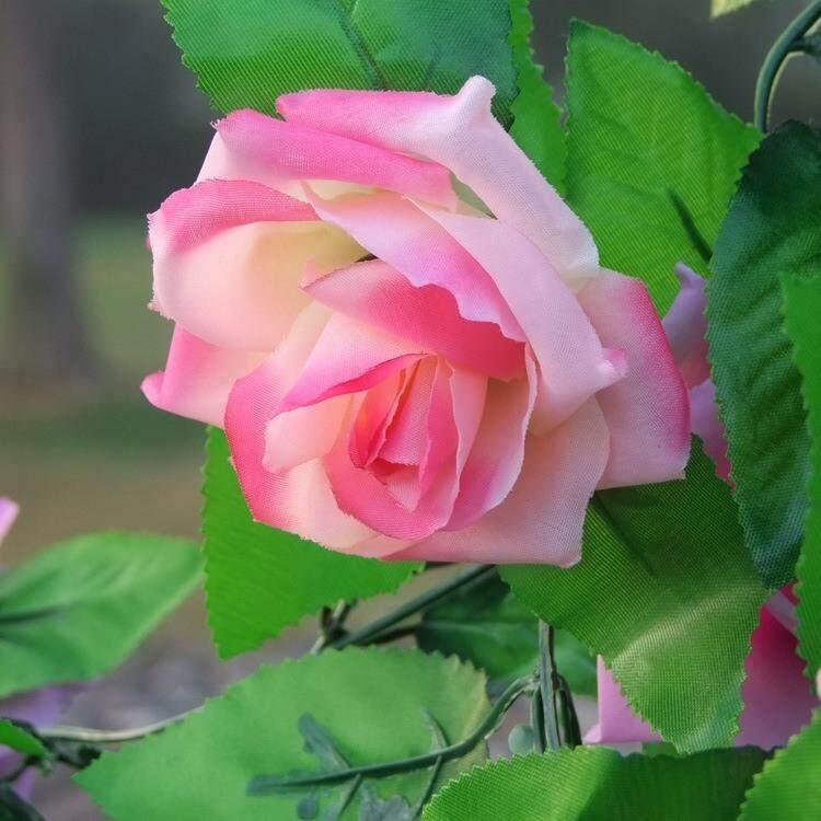 【Deyln】the Menarik dan Tahan Lama 9 Cabang Bunga Mawar Ivy Sutra Palsu Buatan