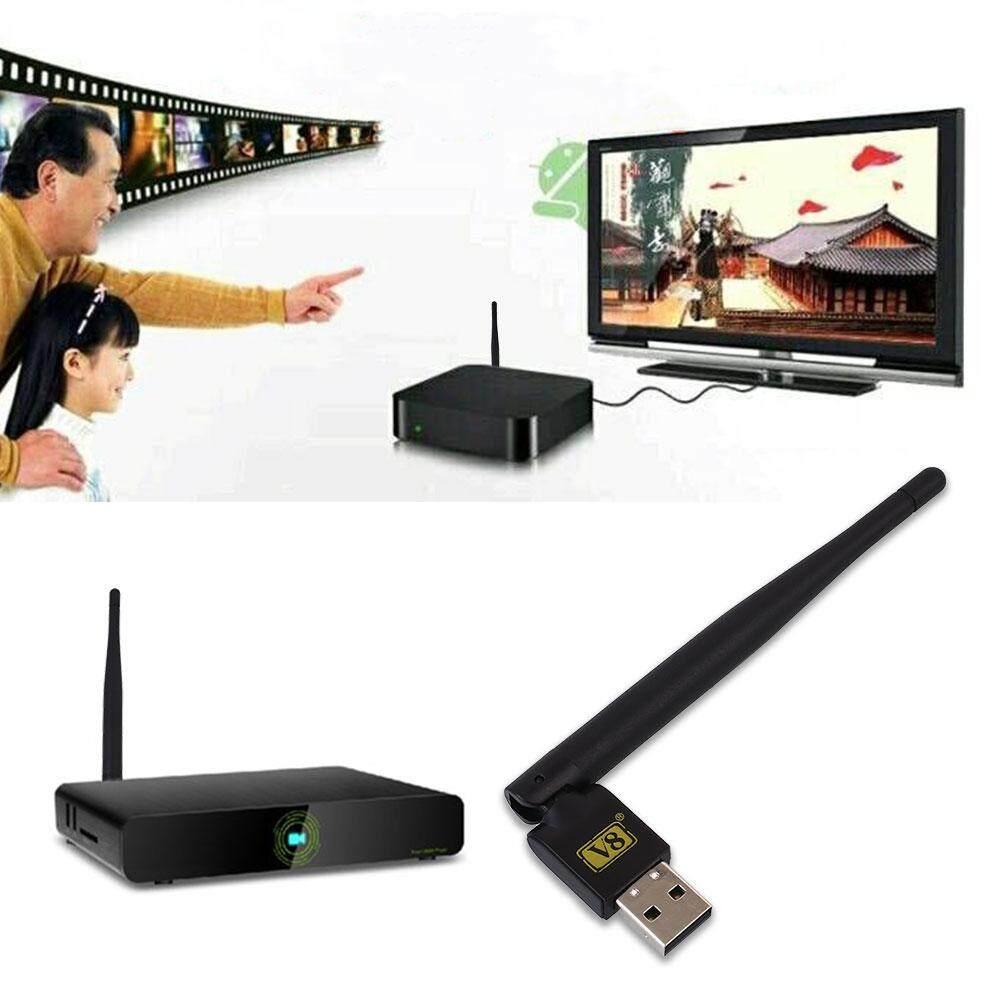 Hình ảnh Mini USB Di Động 2.0 Anten WiFi Dongle cho Vệ Tinh Đầu Thu TRUYỀN HÌNH V8-quốc tế