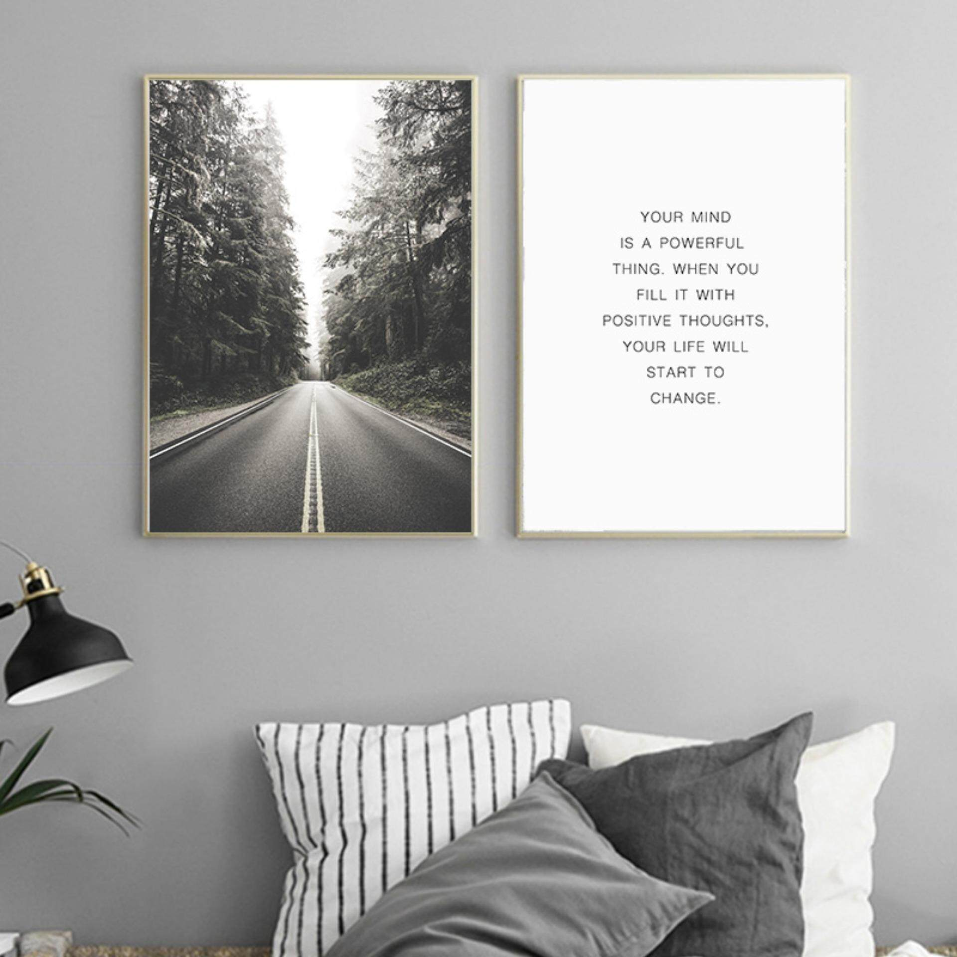 2 Pieces 30X42cm Unframed Forest Road Art Print Painting Poster - intl