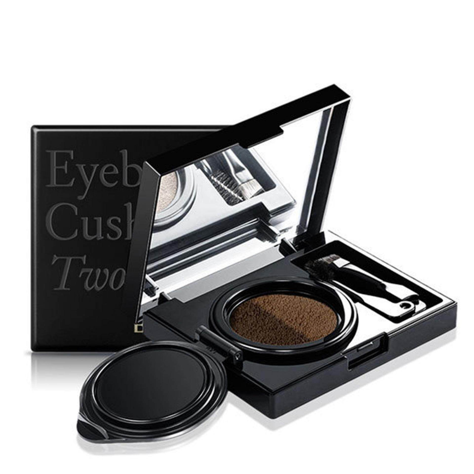 Features Novo Air Cushion Eyebrow Enhancer Waterproof Double Color Eyeshadow Two Tone Original Cosmetics Eyes Makeup With Mirror 6g