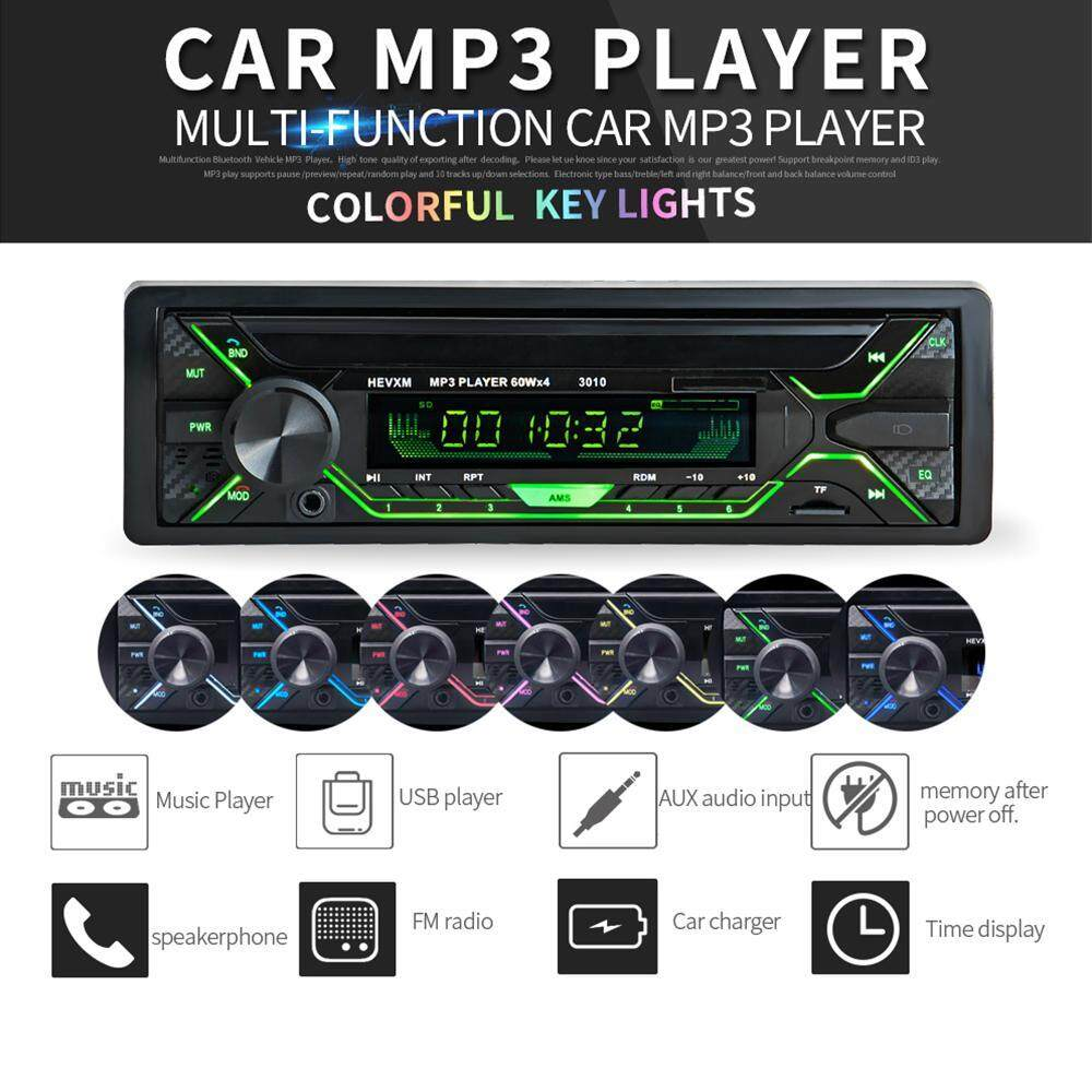 Car Stereo For Sale Cars Online Brands Prices 2002 L300 Radio Wiring Color Rodeal Colorful Bluetooth Audio Single Din 12v Fm Receiver With Remote Controlin