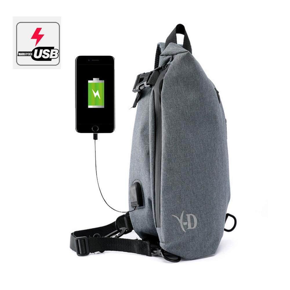 Price Teepao Men Oxford Cloth Chest Pack Travel Shoulder Bag Rucksacks With Usb Charging Port For Outdoor Hiking Sport Intl Teepao Original