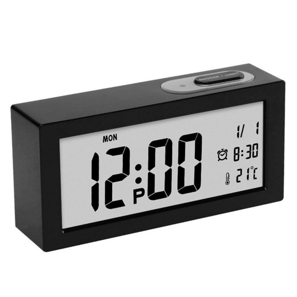 NuodunN Large-screen Digital Temperature Display Thermometer Luminous Clock Snooze Bedroom Desktop Alarm Clock