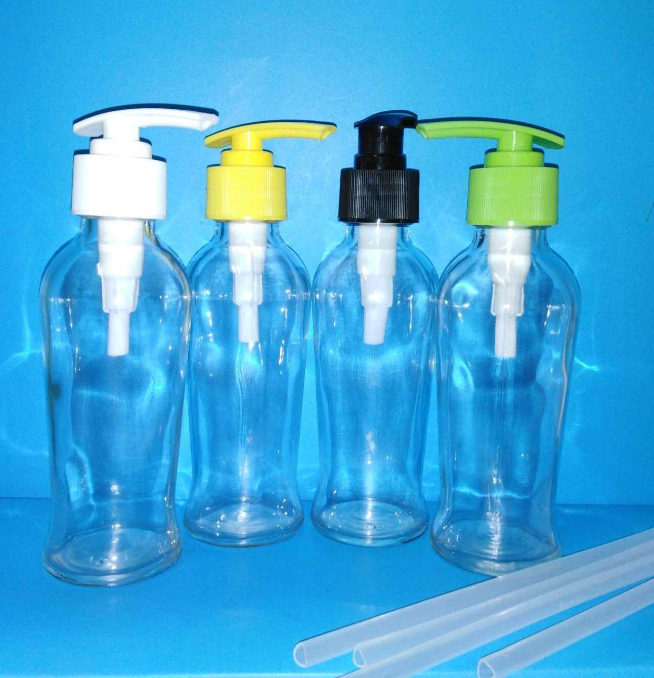 10pc 120ml glass bottle with pump