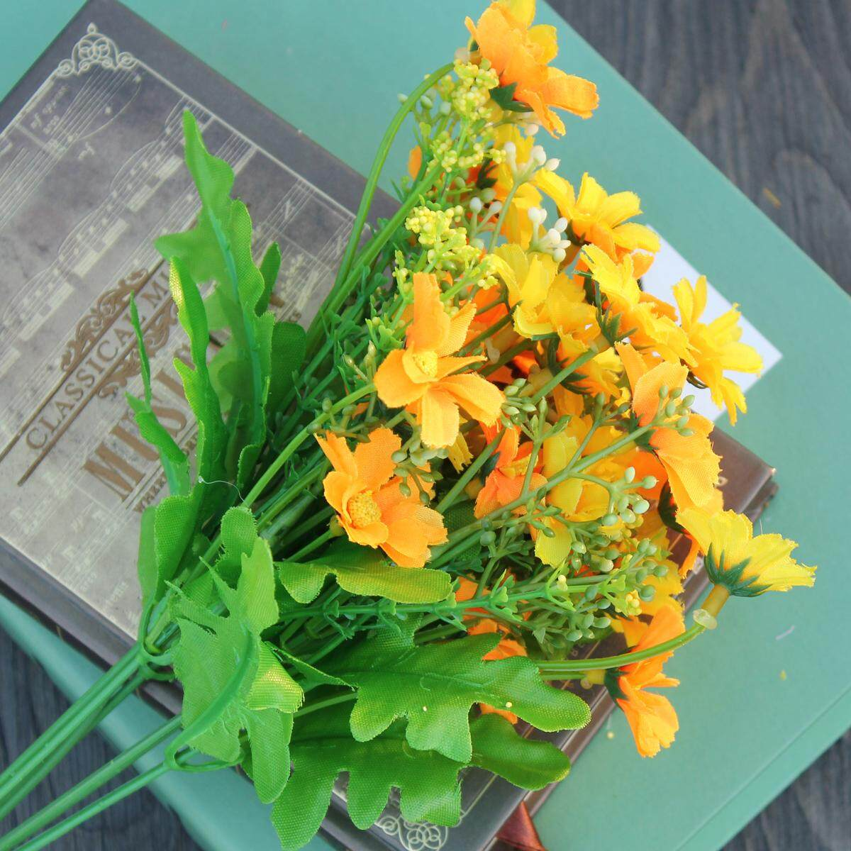5 Buket Buatan Cineraria Sutra Bunga Daun Rumah Pesta Pernikahan  Dekorasi-Internasional 62a9a67784