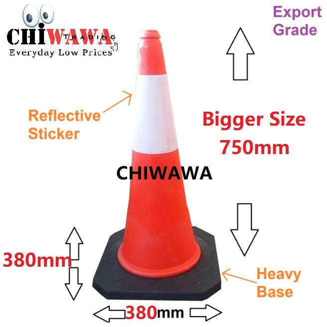 Export Grade Parking Cone Traffic Block Reflective Safety Standard 30 Cones By Chiwawa Trading.