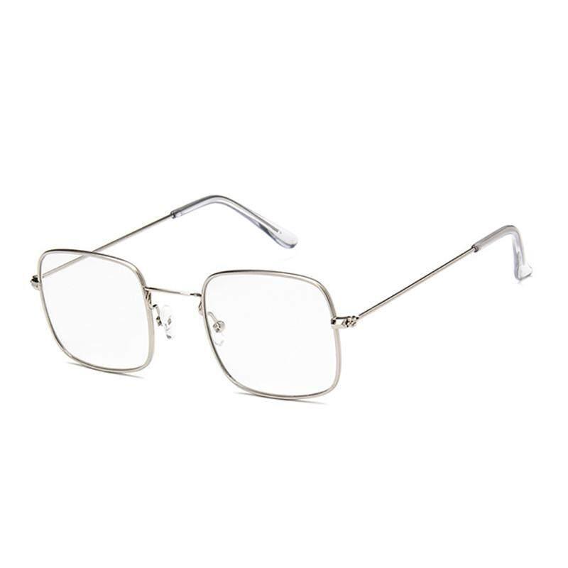 Vigo Persegi Kecil Cermin Datar Uniseks Kacamata Kacamata Myopia Trendi  Model Kacamata Hitam (Putih) f130d84565