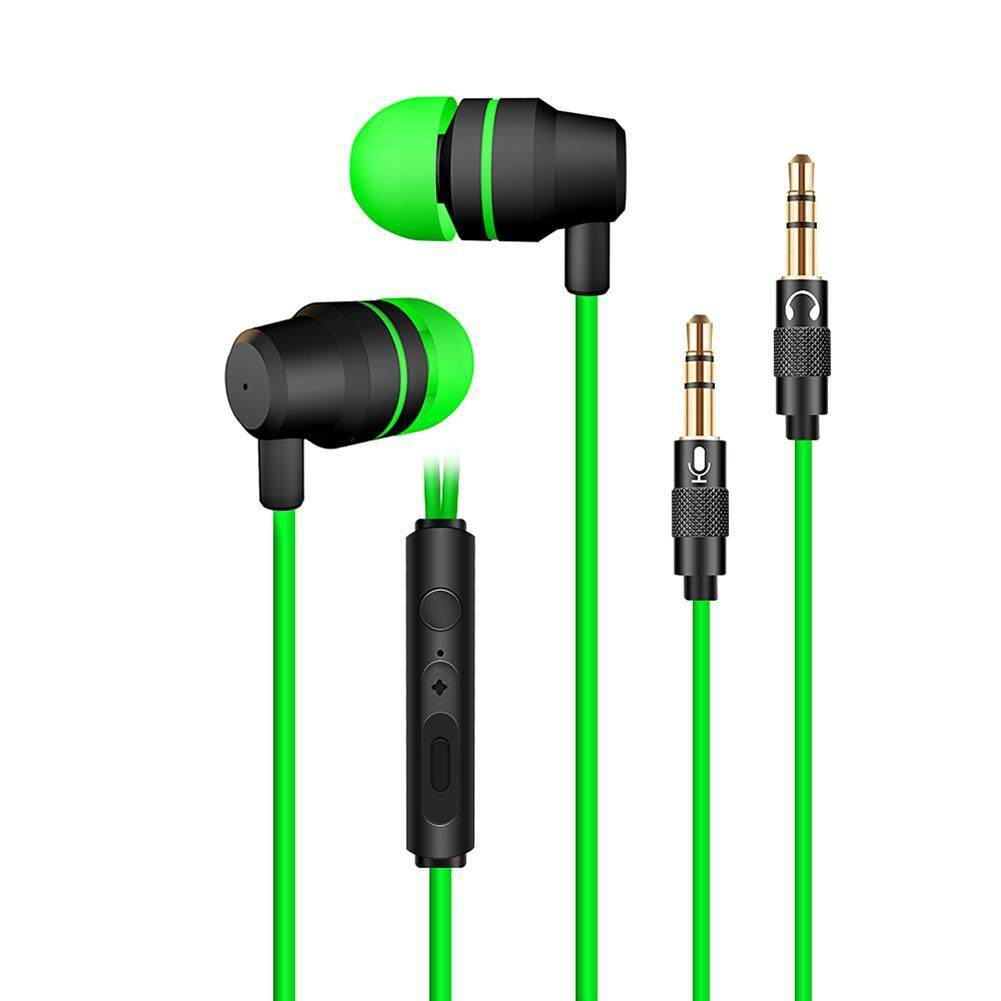 PC Gaming Headset In Ear Stereo Bass Noise Cancelling Earphone with Mic - intl